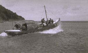 Minehead lifeboat Liverpool Motor class ON 882 'B. H. M. H.' tra