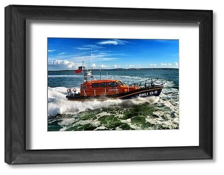 St Ives Shannon class lifeboat Nora Stachura 13-11 at sea