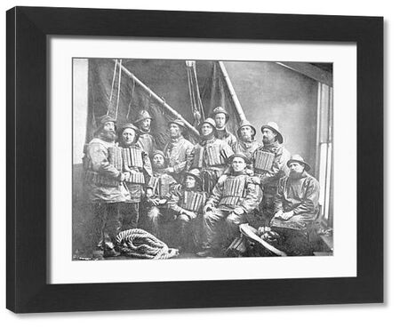 Ramsgate crew 1881 Taken following the rescue of 'Indian Chief' Cox'n Charles Fish (Bearded, standing centre)