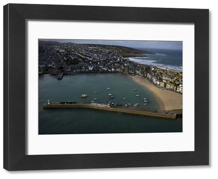 Aerial view of St Ives taken from RNAS Culdrose helicopter