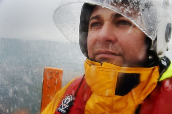 Gary Fairbairn, coxswain of Dunbar lifeboat, awarded Bronze medal for gallantry for the rescue of two people from a yacht