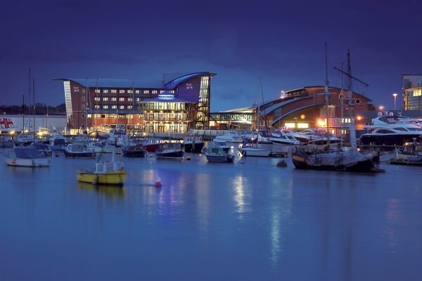 The Lifeboat College at night