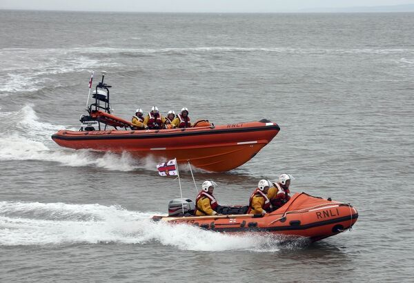 Naming ceremony of Minehead Atlantic 85 class lifeboat Richard and Elizabeth Deaves B-824