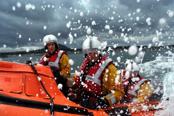 North Berwick D class inshore lifeboat. Runner up in the People category in the Photographer of the Year competition 2009
