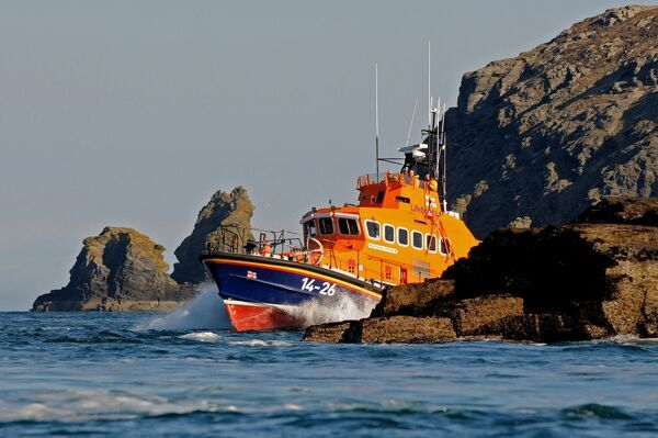 Port st Mary Lifeboat, the Trent Class 'Gough Ritchie II', 14-26 around the south coast of the Isle of Man