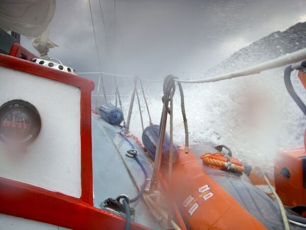 Rescue by Loch Ness Atlantic 75 inshore lifeboat Mercurius. Winner of the Rescues category in the Photographer of the Year 2009 competition