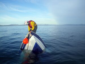 Abersoch crew member on board a sinking vessel