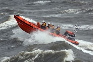 Blackpool Atlantic 85 inshore lifeboat William and Eleanor B-867 heading from right