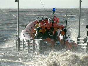 Burnham-on-Sea Atlantic 75 class lifeboat Staines Whitfield bein