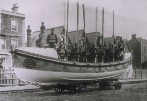 Burnham-on-sea lifeboat Self Righter class ON 138 'John Godfrey