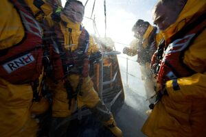 people/crew onboard moelfre tyne class lifeboat robert