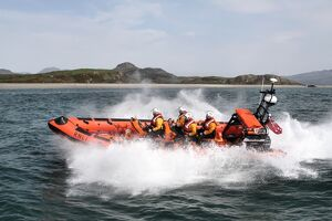 Criccieth Atlantic 85 inshore lifeboat Doris Joan