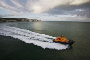 Dover severn class lifeboat City of London II 17-09 moving from left to right, white