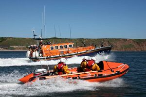 Filey Mersey class Keep Fit Association and D-class lifeboat Rot