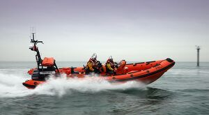 Hayling Island Atlantic 85 class inshore lifeboat Derrick Battle B-829