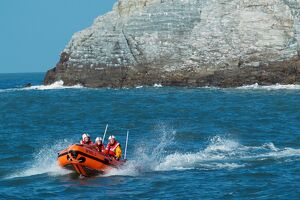Holyhead D class lifeboat Angel of Holyhead D-654. Three crew onboard.