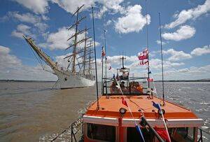Hoylake Mersey class lifeboat Lady of Hilbre at the Tall Ships f