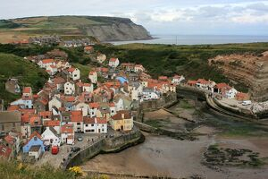 Landscape shot of Staithes and Runswick