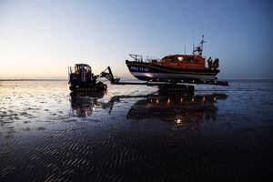 Launch and recovery exercise of the Dungeness Shannon class lifeboat