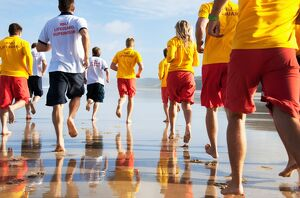 lifeguards/lifeguards early mornings training session perranporth