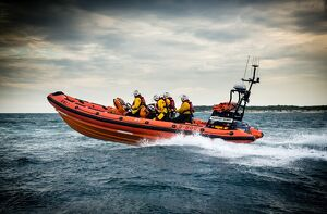 Mudeford Atlantic 85 inshore lifeboat Mudeford Servant B-806