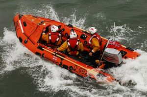 The naming ceremony of Southend on Sea D class inshore lifeboat