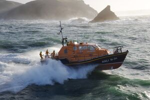 Padstow Tamar class lifeboat at sea