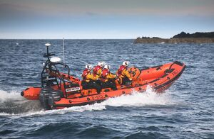 Port Erin Atlantic 85 class inshore lifeboat Muriel and Leslie B-813