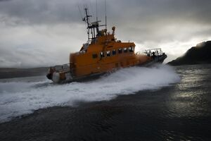 weather lifeboats/portree trent class lifeboat stanley watson barker