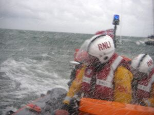 Portsmouth RNLI in bad weather