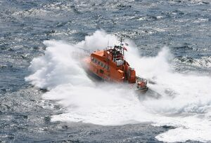 Ramsgate Trent class lifeboat Esme Anderson from above