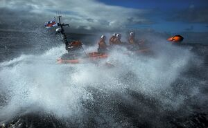 Red Bay Altantic 85 inshore lifeboat Geoffrey Charles B-843