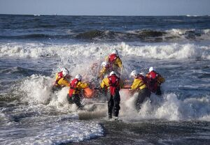 Redcar inshore lifeboat being launched