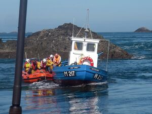Rescue by St Davids D class inshore lifeboat