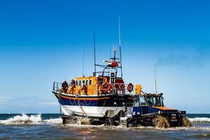 Rhyl Mersey class lifeboat Lil Cunningham 12-24 being launched