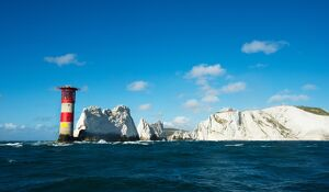 Solent lifeboats provide safety cover during the annual Round the Island Race. The Needles