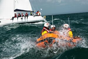 Solent lifeboats provide safety cover during the annual Round the Island Race