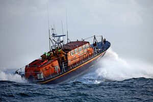 St Helier Tyne class lifeboat Alexander Coutanche at sea