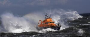 Torbay Severn class lifeboat Alec and Christina Dykes at sea