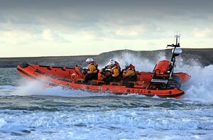 Trearddur Bay Atlantic 85 inshore lifeboat Hereford Endeavour B-847.