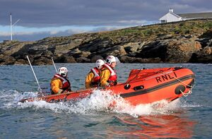 Trearddur Bay D-class inshore lifeboat Flo and Dick Smith D-614